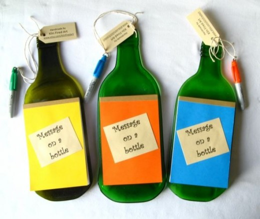 flat bottle message board