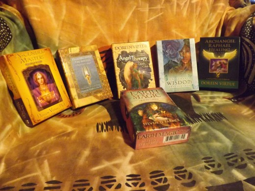 The most popular oracle cards on the market would be Doreen Virtue's angel cards.