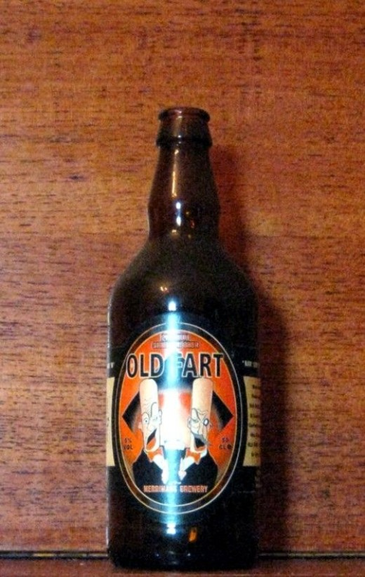 I can't say I saw this beer bottle among the multitudes at the Great Aussie Beer Shed, but it SHOULD have been there somewhere.  I'm sure it was.  The flare in my photo might distort the name somewhat - so in case you missed it, its name is 'OLD FART