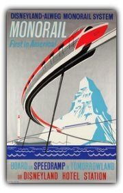 vintage Monorail poster