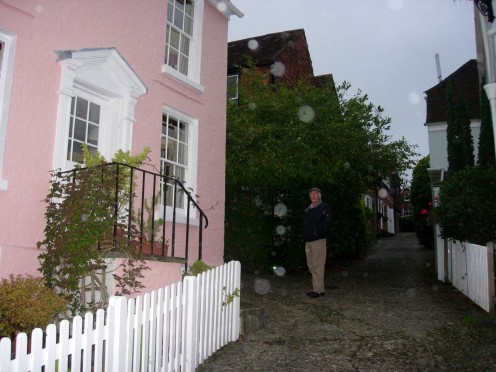 Pretty pink house. Taken in the rain!