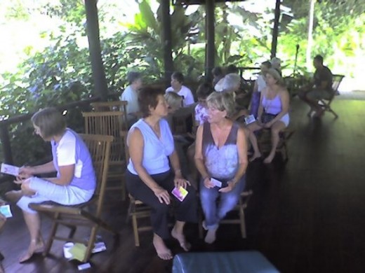 Above the treeline in the Yoga Pavilion at Lost Iguana, a group of us years later sit and chat about the day's experience.