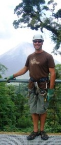 """Ready for Ziplining near Arenal.  Professional staff helped make the experience amazing!  Favorite answer to the question """"Has anyone fallen off this thing?""""  -- """"Not today."""""""