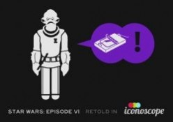 Star Wars Films Retold with Icons