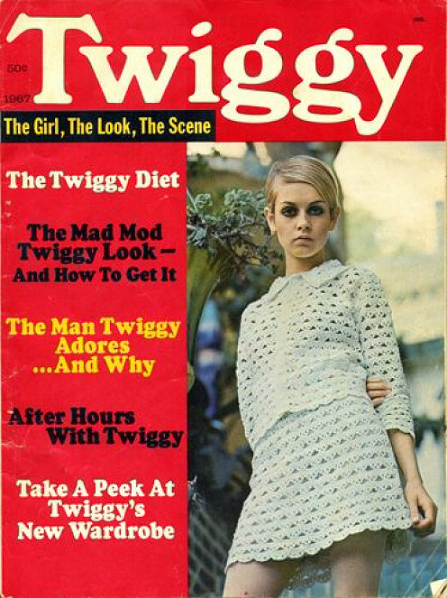This Twiggy magazine is still intact with no missing pages!