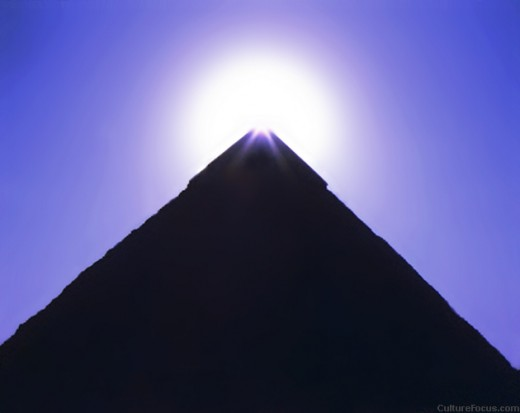 Pyramid of Khafre at Giza, Egypt.