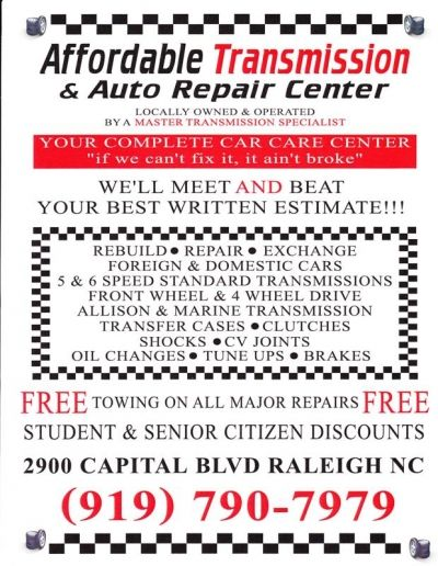 Affordable Transmission & Auto Repair