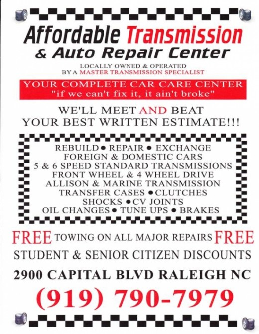Transmission Service Raleigh