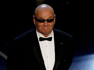 Jack Nicholson Goes Bald at the 2007 Oscars.