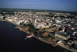 Ariel view of Stone Town.
