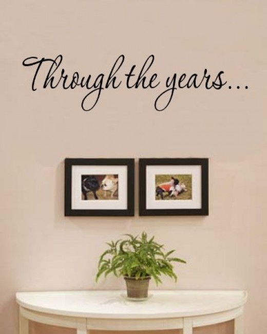 Wall Words - Through the Years