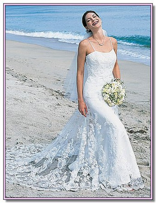 Wedding trend ideas beautiful beach wedding dresses for Green beach wedding dresses