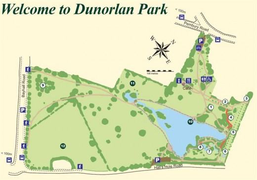 Dunorlan Park Map