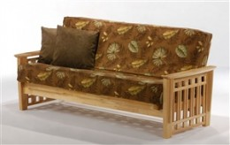 Arts & Crafts Style Futon in Natural Wood Finish