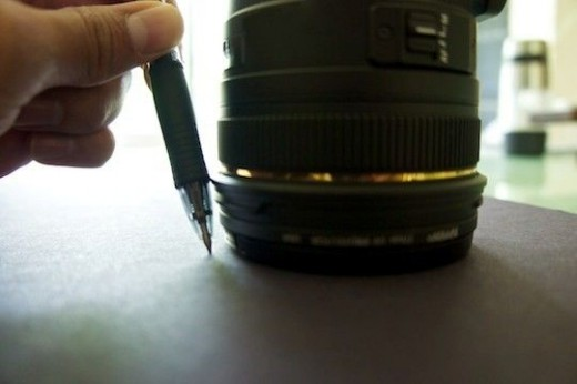 Now measure the circle for the lens cap