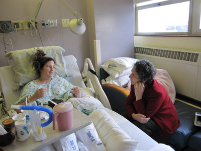 Debbie has been with me from day one when I found out about  the genetic mutation, to providing pre-op information, then visiting in my room to continue being a warm friend offering solace and support.