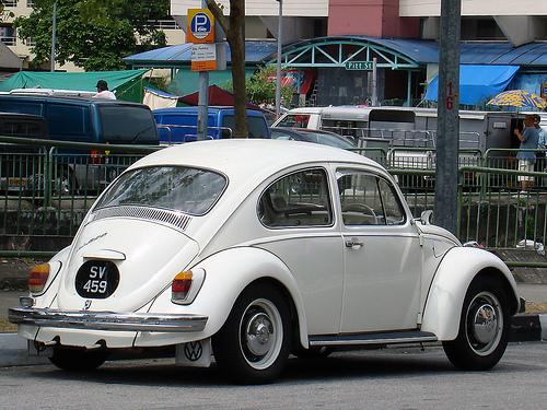 White VW Bug