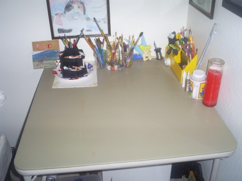 A card table is perfect for hobbies.