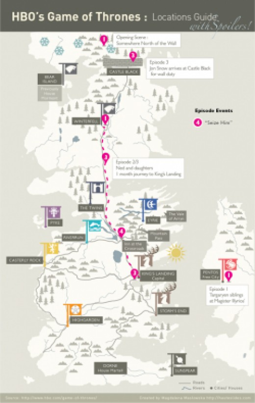 Game of Thrones Location Guide