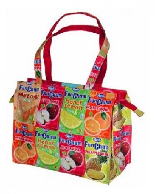 The Juice Box Bag from Eco-Handbags.