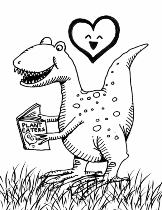 dino valentine coloring pages - photo#21