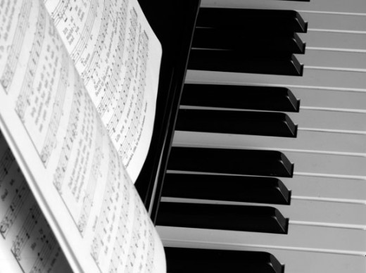 Piano Keys and Songbook