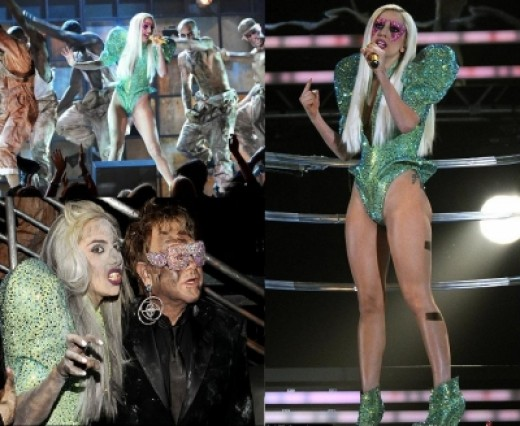 Lady Gaga @ Grammy Awards 2009 - performing with Elton John