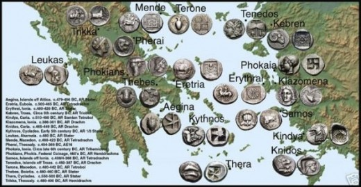 coins in ancient greece