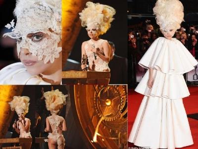 Lady Gaga outfits at the Brit Awards