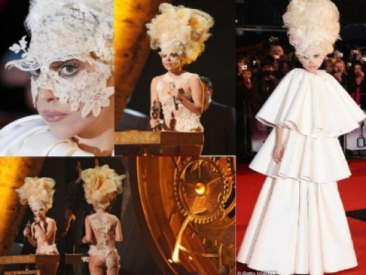 Lady Gaga outfits at the Brit Awards
