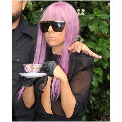 lady gaga's wig - purple wig
