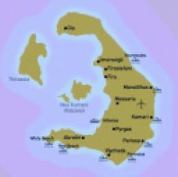 santorini beacehs - map of santorini