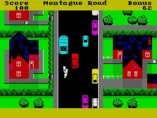 Trashman on a ZX Spectrum 48K