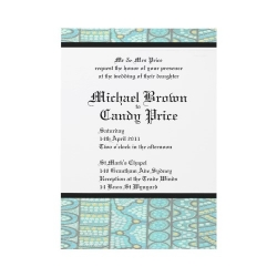 The Journey Blue Wedding Invitation