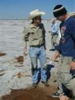 Experienced crystal diggers enjoying their day.  credit:  okstate.edu