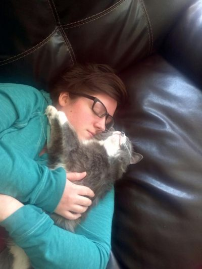 Charlie and I taking a nap.