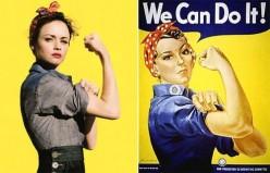 DIY Pin-Up Rosie the Riveter Costume