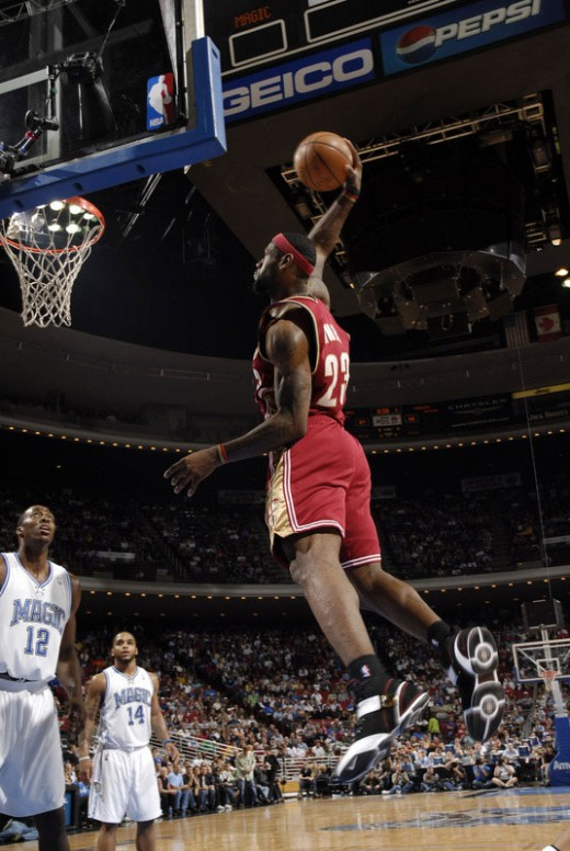 LeBron Skying High Against the Magic