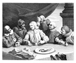 Columbus breaking the egg