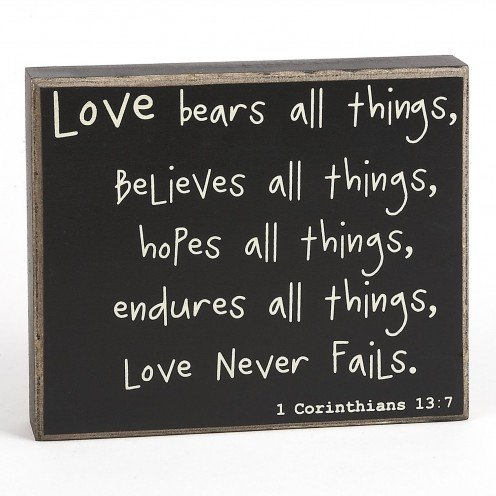 Love Bears All Things Quote Box