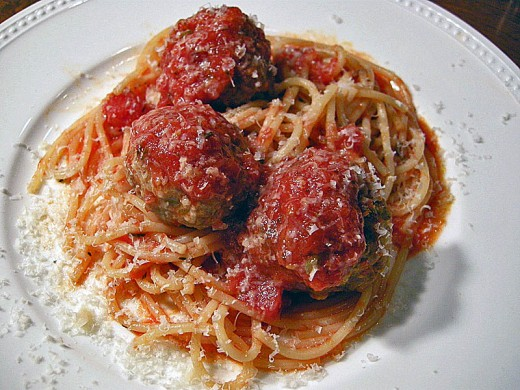Pasta with meatballs: it is Italian only in Disney's Lady and the Tramp