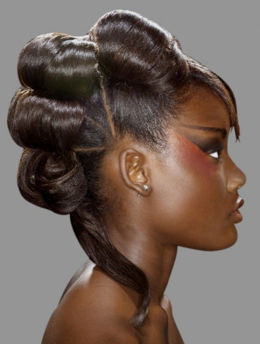 Photo of 2003 afro mohawk hairstyle. 2003 afro mohawk hairstyle. Black hair