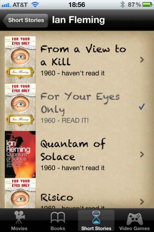 Bond for iOS Short Stories