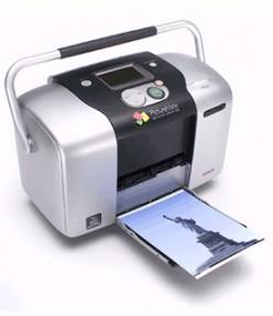 A dedicated, compact photo printer
