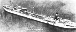 AO-12 USS Ramapo, a 16,800-ton, 478-foot navy oiler commissioned in 1919 (Credit: Public Domain)