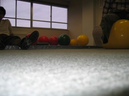 Bouncy ball room