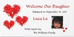 Red Hearts Adoption Announcement