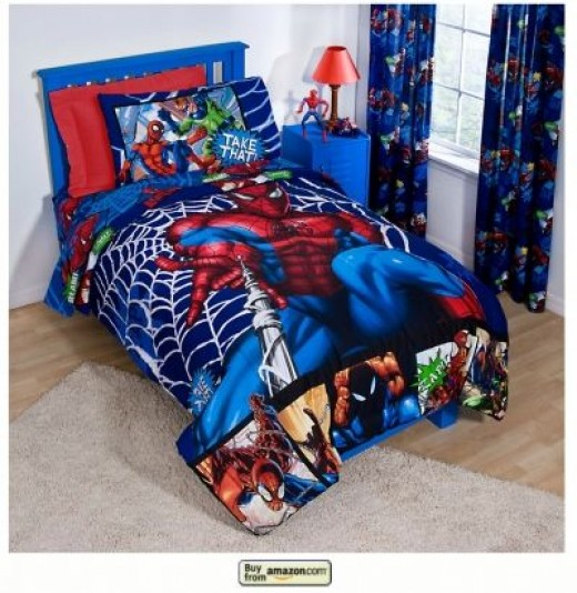 Spiderman Themed Bedding
