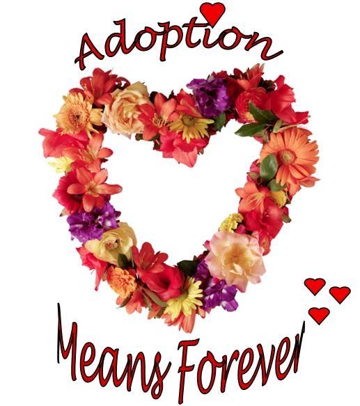 Floral Wreath Design - Adoption Means Forever