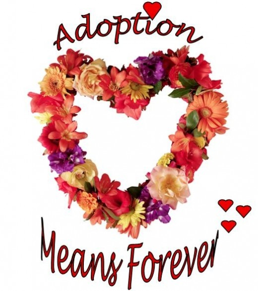 Floral Wreath Design - Adoption Means Forever